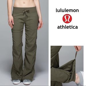 EUC Lululemon Studio Pants Fatigue Green Size 10